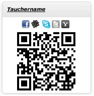 QR-Code auf myDiveTime.de
